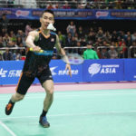 Lee Chong Wei and Cai Yun in actions at the 2017 Chengdu Badminton Asia Elite Tour.