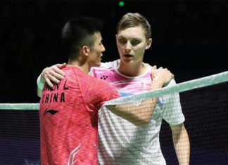 Chen Long could meet Viktor Axelsen again in the semi-finals of next week's Hong Kong Open. (photo: AP)