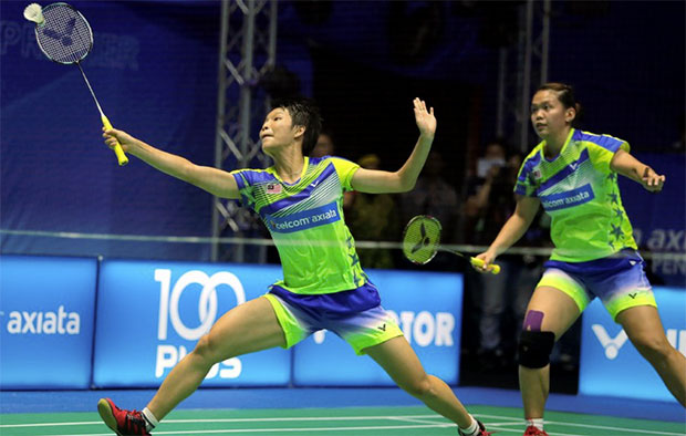 Chow Mei Kuan (left)/Lee Meng Yean are Malaysia's sole survivors at Korea Masters. (photo: AP)
