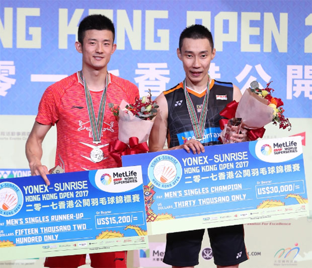 Lee Chong Wei and Chen Long to set up a mouth-watering rematch of their recent Hong Kong Open final on Thursday. (photo: AP)