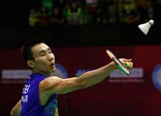 Lee Chong Wei too strong for Angus Ng Ka Long at the 2017 BWF Super Series Finals in Dubai. (photo: AP)