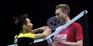 Lee Chong Wei needs to cross the ultimate hurdle - Viktor Axelsen on Sunday in order to win his fifth World Superseries Finals crown. (photo: AP)