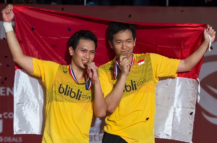 Mohammad Ahsan/Hendra Setiawan will be the top men's doubles pair to watch out for in 2018. (photo: AP)