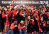 Carolina Marin and the Hyderabad Hunters celebrate winning the 2017-2018 Vodafone Premier Badminton League (PBL) title. (photo: PBL)