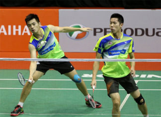 Goh V Shem/Tan Wee Kiong are one win away from taking the 2018 Malaysia Masters title. (photo: Eizairi Shamsudin)
