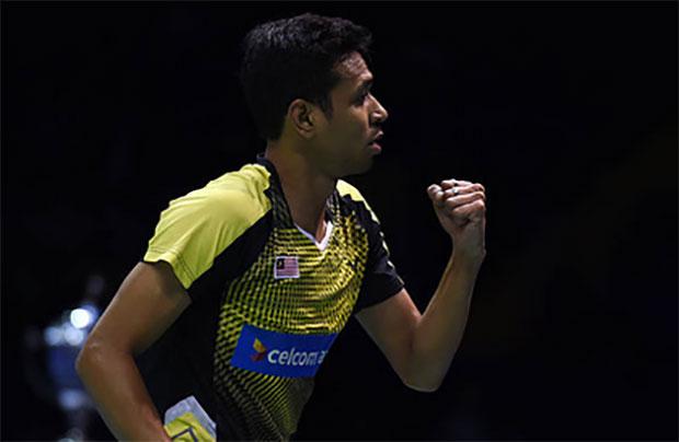 Iskandar Zulkarnain shows strong play at the India Open quarter-finals. (photo:AP)