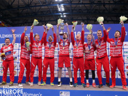 Congratulations to Denmark for winning their seventh European men's team title. (photo: Badminton Europe)