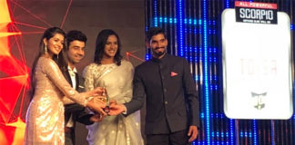 PV Sindhu and Kidambi Srikanth accept the TOISA awards. (photo: rajeshkalra)