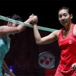 Ratchanok Intanon (left) loses to Michelle Li at 2018 All England. (photo: Badminton England)