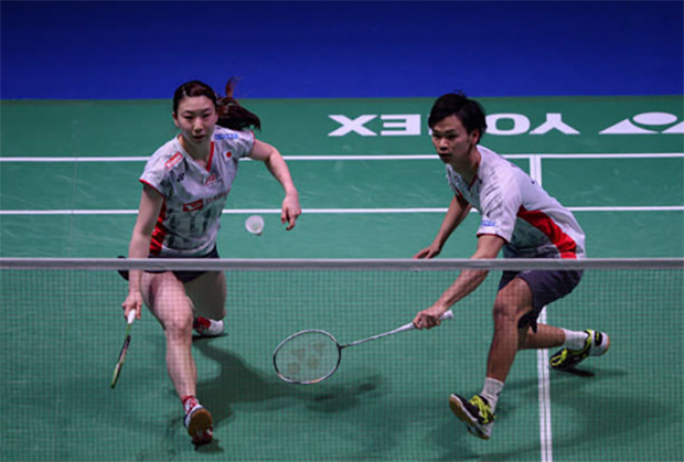 Yuta Watanabe and Arisa Higashino are the first Japanese mixed doubles pair to win the All England title. (photo: AP)