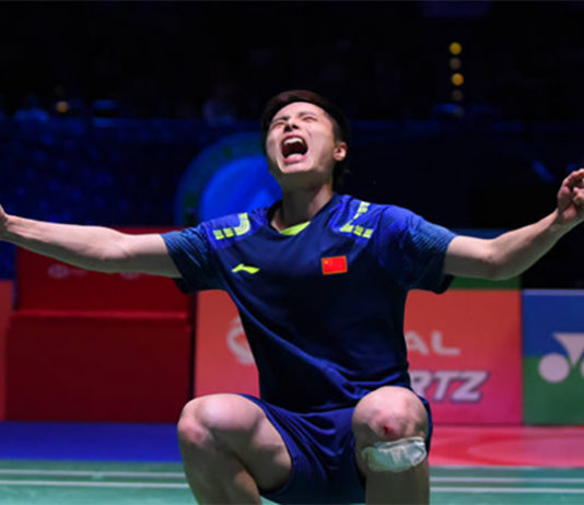 Shi Yuqi wins the 2018 All England. (photo: AP)