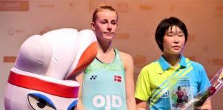 Shiori Saito and Mia Blichfeldt pose during the Orleans Masters medal ceremony. (photo: BWF)