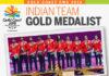 India win its first mixed team badminton gold at the Commonwealth Games. (photo: TOI)