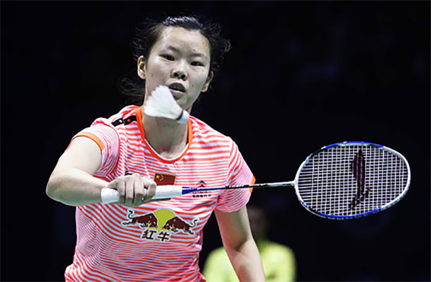Li Xuerui continues her hot form in Lingshui China Masters. (photo: AP)