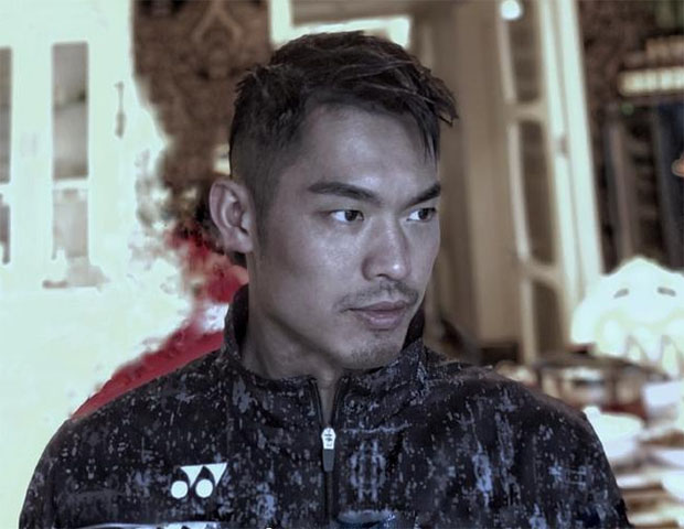 Lin Dan looks slick with short new hairstyles. (photo: Ricky - Weibo)
