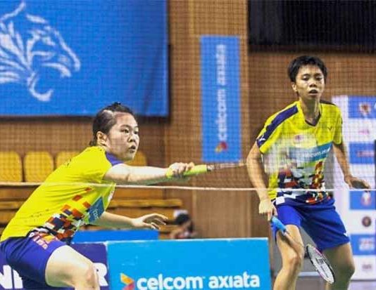 Soong Fie Cho (right) and Tee Jing Yi are only one win away from winning the 2018 Malaysia International Challenge. (photo: AP)
