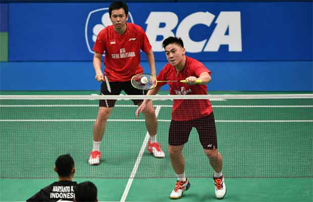 Tan Boon Heong and Hendra Setiawan were ranked World No. 20 at the end of 2017. (photo: AP)