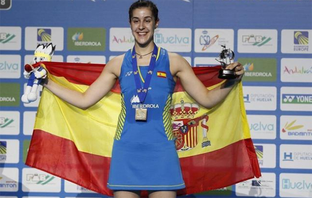 Carolina Marin wins her fourth European Championships title at the 2018 edition. (photo: AFP)