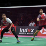 Mohamad Ahsan and Hendra Setiawan are likely to score a point for Indonesia through second men's doubles match in Thomas Cup quarter-finals against Malaysia. (photo: AFP)
