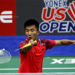 Lu Guangzu returns a shot from Suppanyu Avihingsanon of Thailand at the 2018 US Open. (photo: AP)