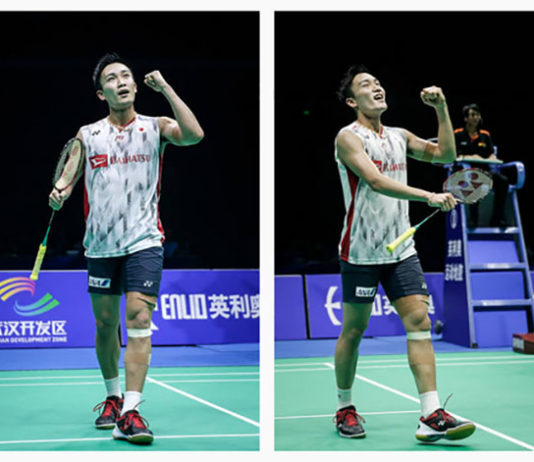Kento Momota is on course for world No 1 ranking. (photo: AFP)