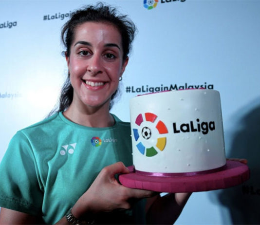 Carolina Marin looks to win her third World Championship title this year. (photo: Bernama)