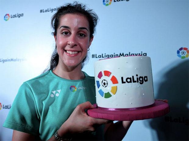 Carolina Marin looks to win her third World Championship title this year. (photo: Bernama)