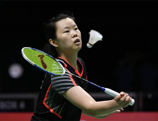 Li Xuerui fires up to win the 2018 Canada Open. (photo: AP)