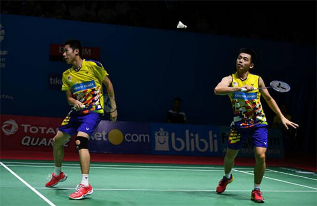 Goh V Shem/Tan Wee Kiong struggle to find their groove. (photo: AP)