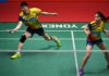 Goh Soon Huat/Shevon Jemie Lai advance to the 2018 Singapore Open second round. (photo: Bernama)