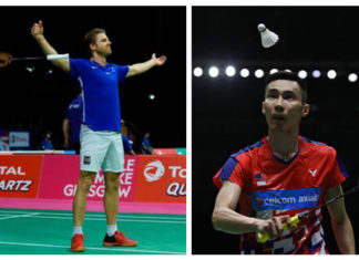 Lee Chong Wei faces Brice Leverdez again in the 2018 World Championships first round.