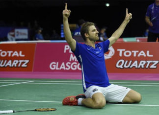 Brice Leverdez has been known as a giant-killer in badminton. (photo: AFP)