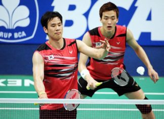 The return of Ko Sung-hyun/Shin Baek-cheol would add more excitement to the men's doubles competition. (photo: AFP)