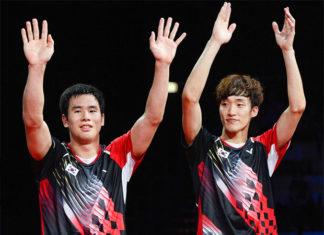 Congratulations to Ko Sung Hyun/Shin Baek Cheol for winning the 2018 Vietnam Open. (photo: AFP)