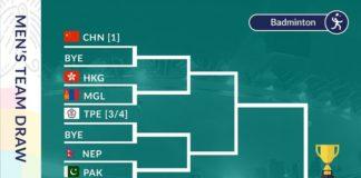 2018 Asian Games badminton men's team draw. (photo: Asian Games)