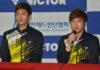 Lee Yong Dae (left) /Kim Gi Jung make return to competitive badminton. (photo: BWF)