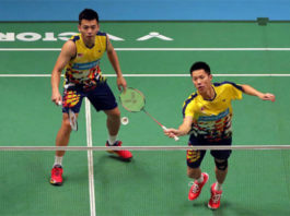Goh V Shem/Tan Wee Kiong could face Marcus Fernaldi Gideon/Kevin Sanjaya Sukamuljo in China Open quarter-finals. (photo: AFP)