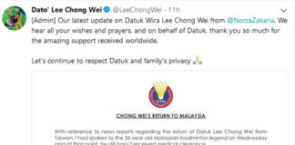 Official statement from BAM. (photo: Lee Chong Wei's Twitter)