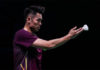 Lin Dan exits the 2018 Denmark Open. (photo: AFP)