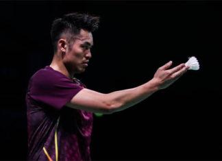 Lin Dan exits the 2018 Denmark Open. (photo: AFP)