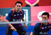 Badminton Video - 2018 Denmark Open Semi-Final - Mohammad Ahsan/Hendra Setiawan (Indonesia) vs. Marcus Fernaldi Gideon/Kevin Sanjaya Sukamuljo (Indonesia)