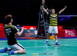 Badminton Video - 2018 Denmark Open Final - Marcus Fernaldi Gideon/Kevin Sanjaya Sukamuljo vs. Takeshi Kamura/Keigo Sonoda
