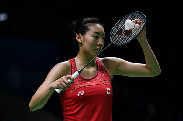 Michelle Li holds a 3-0 career meeting record against Ayumi Mine of Japan prior to Saturday's Macau Open semi-final. (photo: AFP)