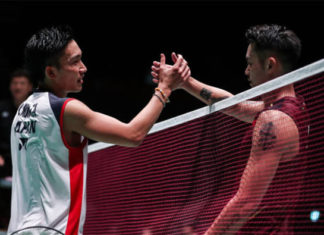 Kento Momota (L) and Lin Dan will be the primary focus in the China Open first round. (photo: AFP)