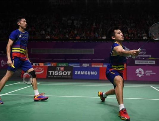 Goh V Shem/Tan Wee Kiong crash out in 2018 Hong Kong Open second round. (photo: AFP)