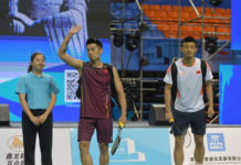 Lin Dan (left) and Chen Long are fighting for the only two men's singles spots available in Olympics with their teammate World No. 2 Shi Yuqi. (photo: AFP)
