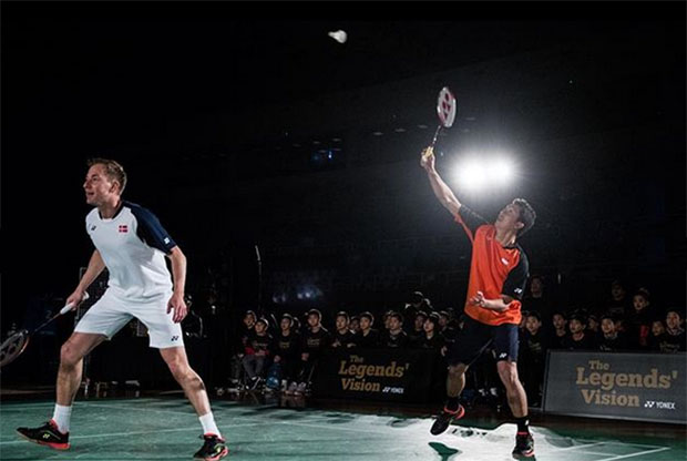 The Legends' Vision in Korea - Taufik Hidayat and Peter Gade. (photo: Yonex)