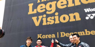 The Legends' Vision in Korea - Lee Yong-Dae, Lin Dan, Peter Gade, Taufik Hidayat (from Left). (photo: Yonex)