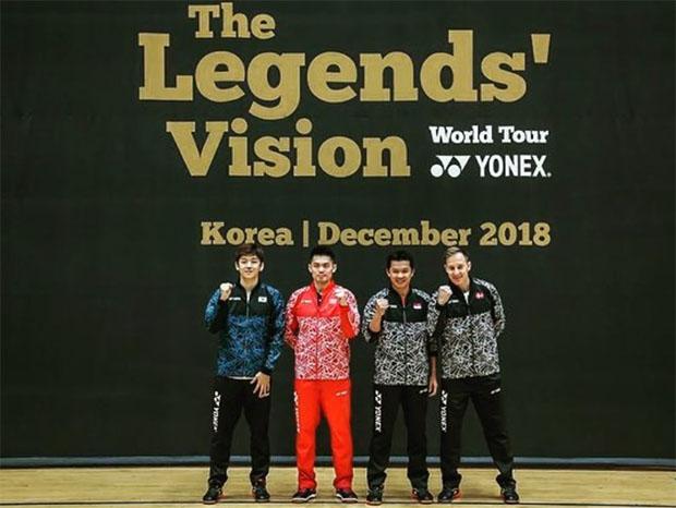 The Legends' Vision in Korea - Lee Yong-Dae, Lin Dan, Taufik Hidayat, Peter Gade. (photo: Yonex)