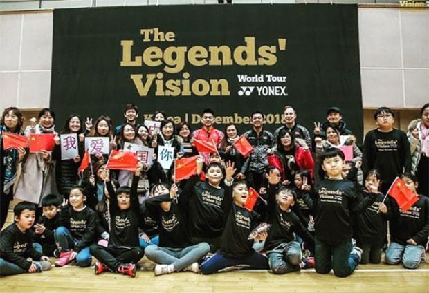 The Legends' Vision in Korea - Lee Yong-Dae, Lin Dan, Peter Gade, Taufik Hidayat. (photo: Yonex)